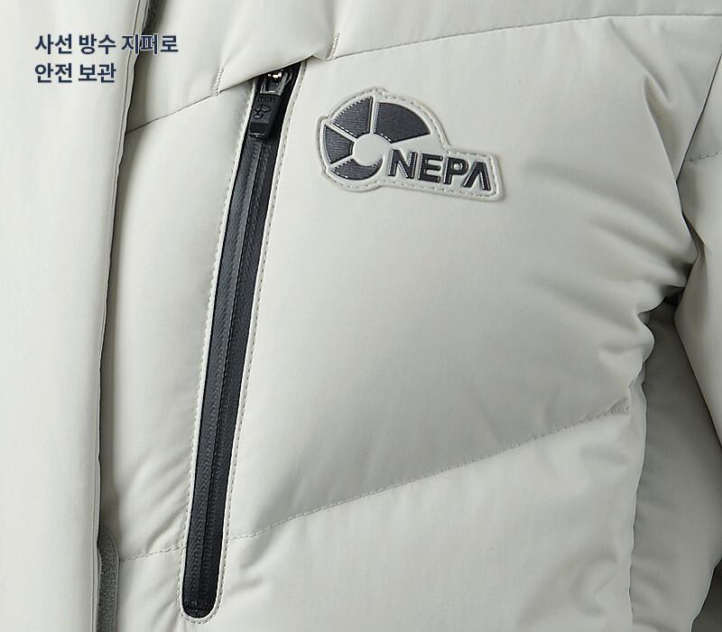 5. 사선 방수 지퍼로 안전 보관