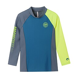(KIDS)COLOR BLOCK RASH GUARD TOP - KFD3002